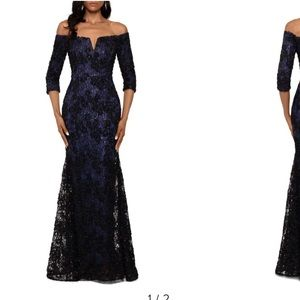 Black & Navy Formal Gown by Xscape